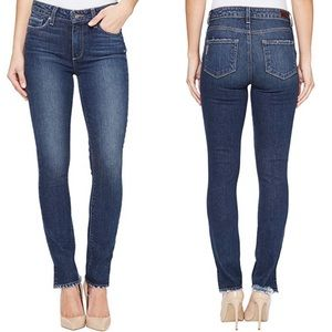 Paige Hoxton Ankle Peg Distressed Skinny Jeans Ivy